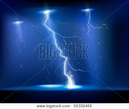 Electrical storm. Vector illustration.