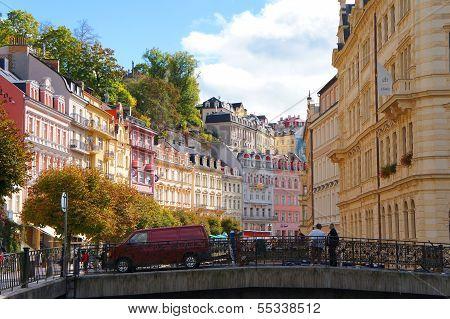 Mlynske street of Karlsbad  Karlovy Vary