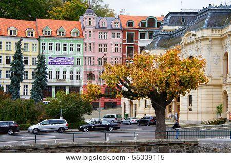 Stara Louka street of Karlovy Vary