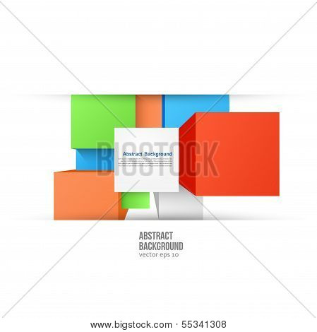Vector abstract background. Square color and