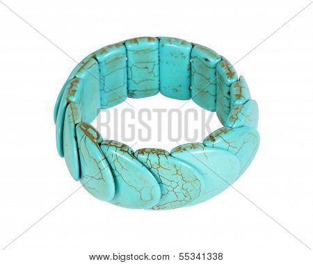Bracelet Bijouterie On The White Background, Isolated
