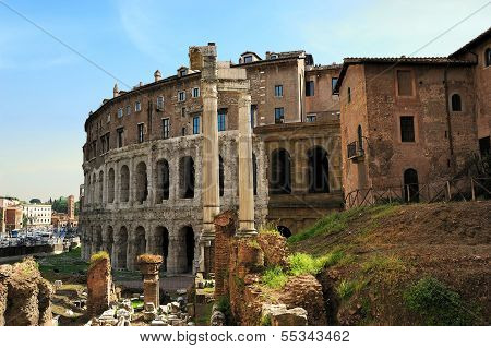 Theatre Of Marcellus And Portico Of Octavia, Rome