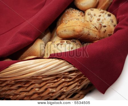 Freash Bread In Basket