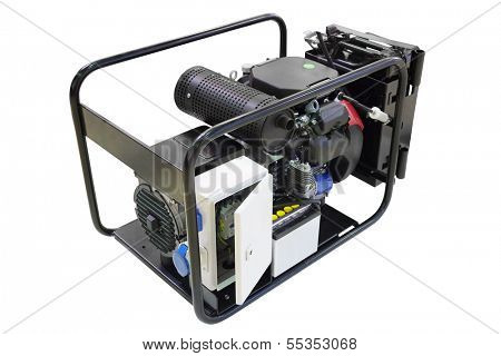 Portable generator isolated under the white background