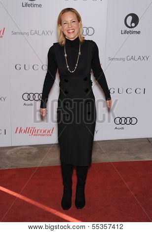 LOS ANGELES - DEC11:  Maria Bello arrive to Women in Entertainment Breakfast 2013  on December 11, 2013 in Hollywood, CA