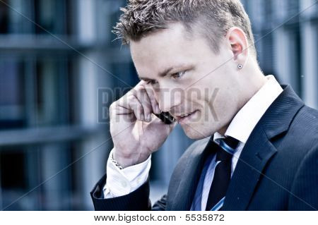Corporate Man On The Phone
