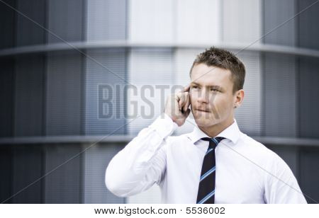 Busy Corporate Man On The Cell Phone