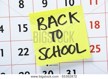 Back To School Reminder
