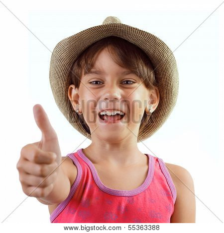 Cheerful Happy Charming Girl In A Hat