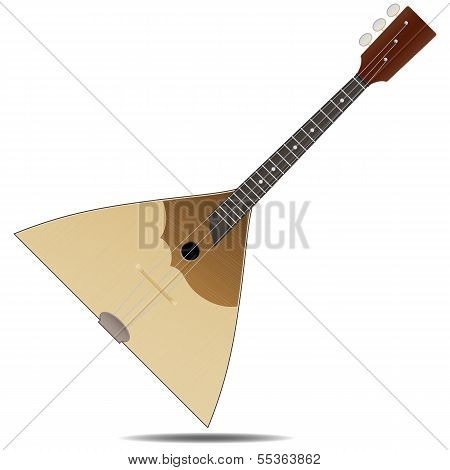 The wood russian balalaika