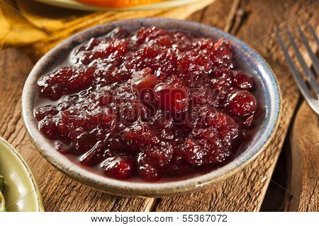 Red Homemade Cranberry Sauce