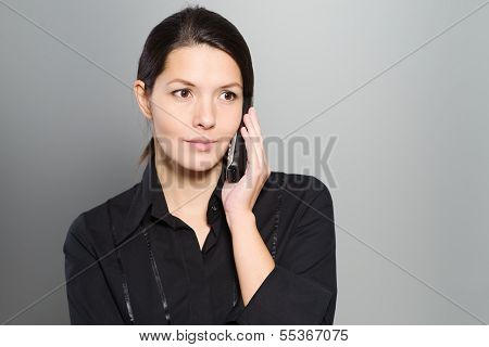 Attractive Woman Listening To A Conversation