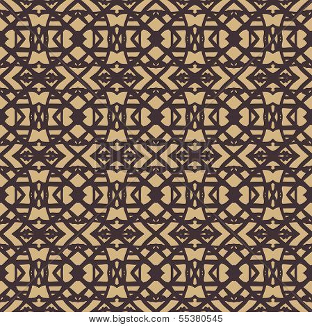 Pattern with dark lines on beige in art deco style