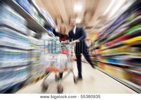 supermarket, a zoomed view