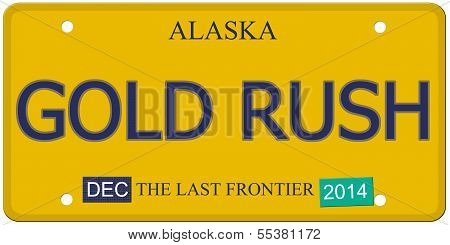 Gold Rush Alaska License Plate