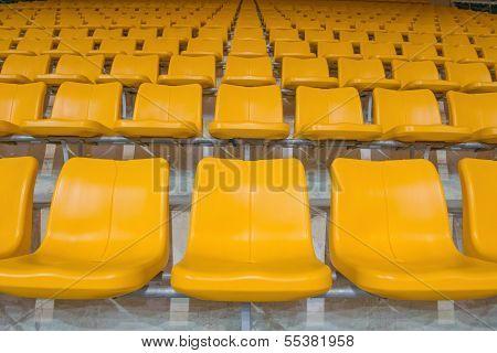 Yellow Stadium Seats
