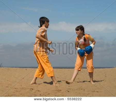 The Teens On Sea Sand