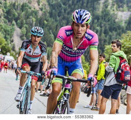 Haimar Zubeldia Climbing Alpe D'huez
