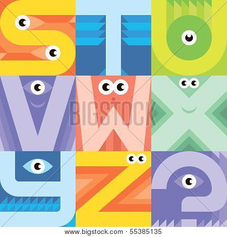 Monster Font S T U V W X Y Z