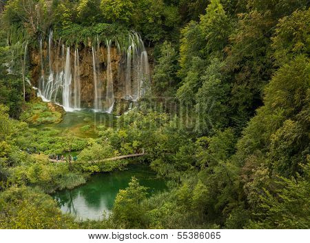 Bigest Waterfall In Plitvice National Park