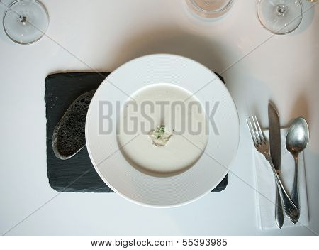 White Soup With Black Bread