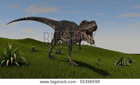 roaring tarbosaurus