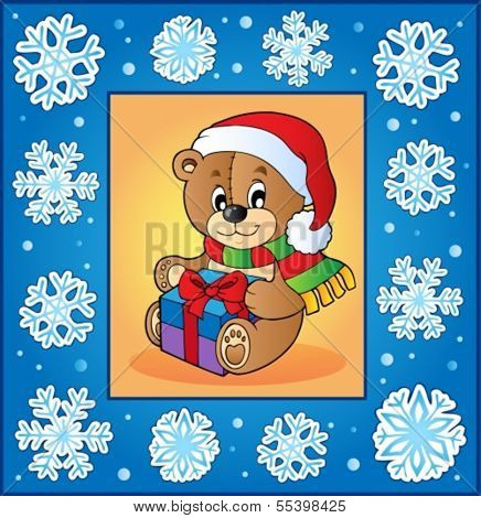 Christmas topic greeting card 1 - eps10 vector illustration.