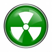 picture of radium  - Round glossy icon with white design on green background - JPG