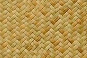stock photo of wood craft  - pattern nature background of brown handicraft weave texture wicker surface - JPG
