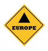 Europe Road Sign poster