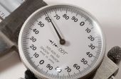 foto of micrometer  - a tool called a micrometer used for measuring - JPG