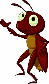 image of cricket insect  - Vector illustration of Cute cricket cartoon presenting - JPG
