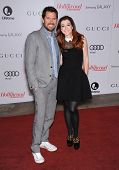 LOS ANGELES - DEC11:  Alexis Denisof & Alyson Hannigan  arrive to Women in Entertainment Breakfast 2