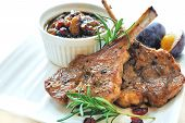 picture of prunes  - rosemary lamb chops with prune, shallot and cranberry chutney ** Note: Slight graininess, best at smaller sizes - JPG