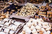 picture of hanukkah  - Fresh Hanukkah cakes in the market in Israel