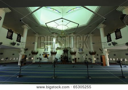 Interior of Tengku Tengah Zaharah Mosque in Terengganu