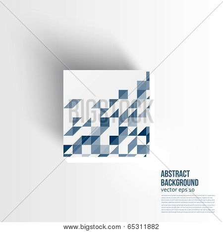 Vector. Abstract background 3d. design