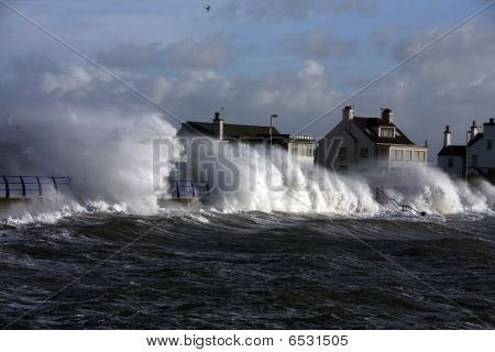 Rough Weather At Trearddur Bay