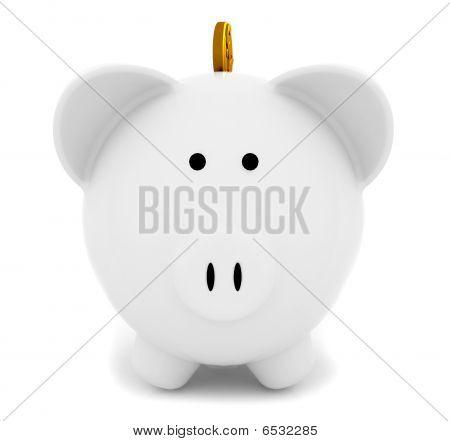 Piggybank With A Coin
