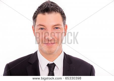 isolated business portrait of german male