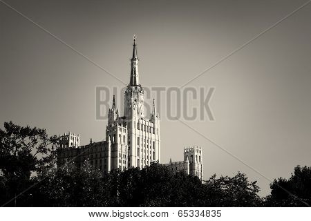 One Of Moscow Seven Sisters Skyscrapers