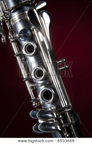 Clarinet Isolated Red Spotlight
