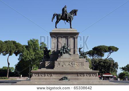 Rome Garibaldi Monument