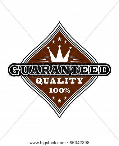 Vintage quality label