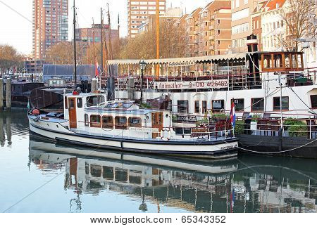 Small Port In Rotterdam, Netherlands