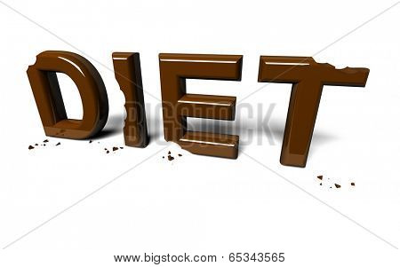 Concept of an unsuccessful attempt of dieting