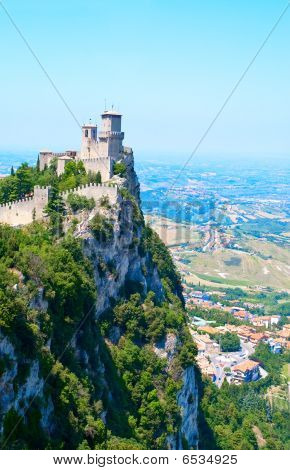 Castle on the Hill in San Marino