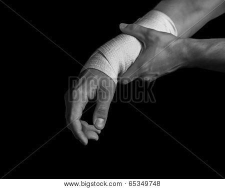 Bandaged Hand, Pain In The Wrist