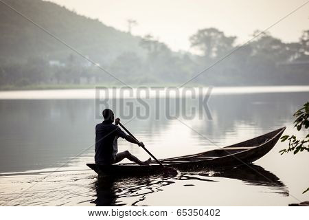 Fishermen On African Lake