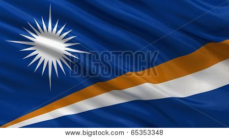 Flag of Marshall Islands waving in the wind